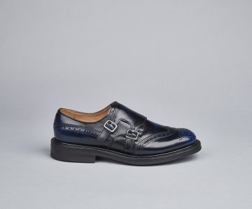 morgan double buckle monk shoe